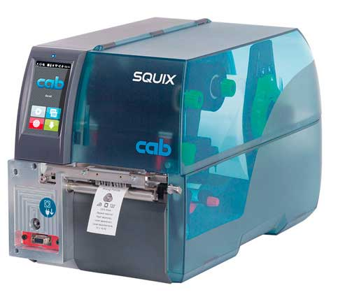 Impresora De Etiquetas CAB SQUIX 4 MT En Especial Para Materiales Textiles Continuo