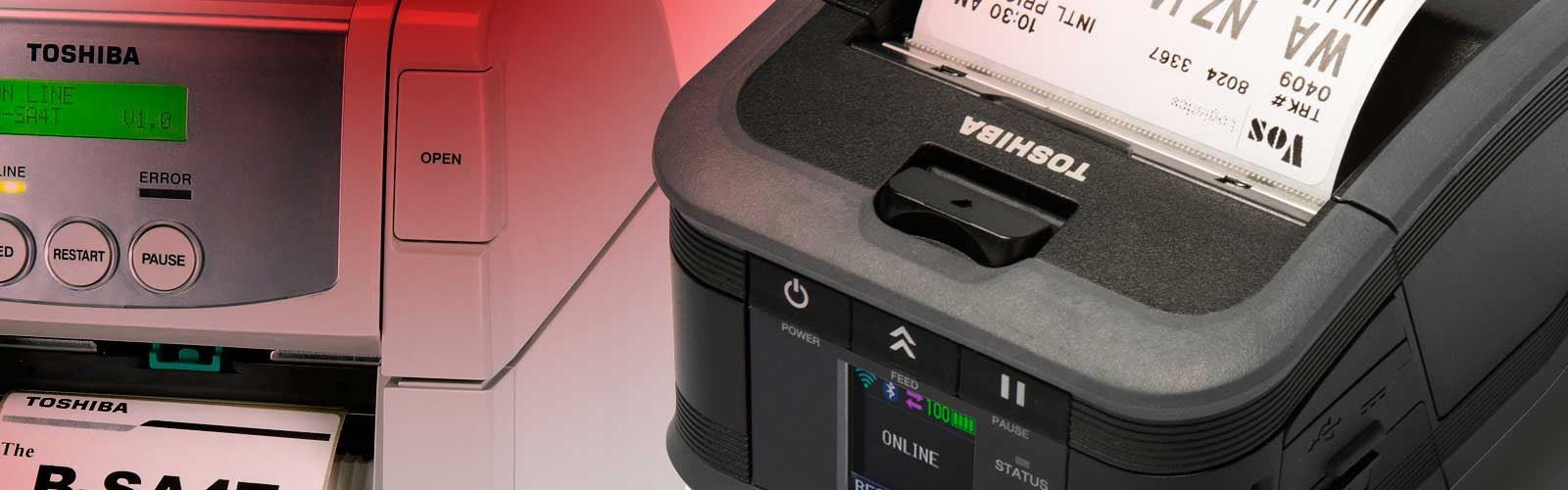Impresoras de Etiquetas Portátiles Toshiba
